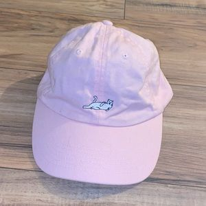 Pink hat with a cat